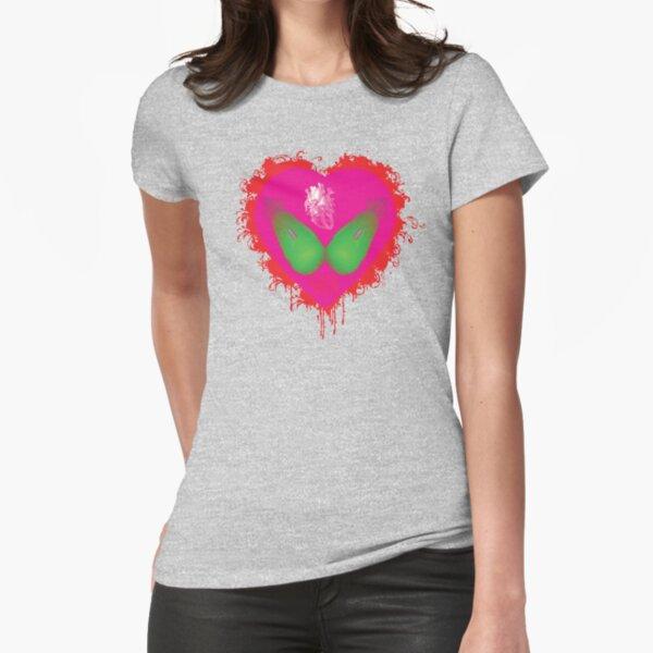 lovebomb iiis evol (blood splatter) Fitted T-Shirt