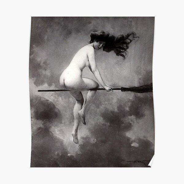 Pour Le Sabbat Witches - Departing for the Sabbath - Albert-Joseph Pénot Poster