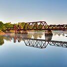 Rusty Railroad Bridge by J Jennelle