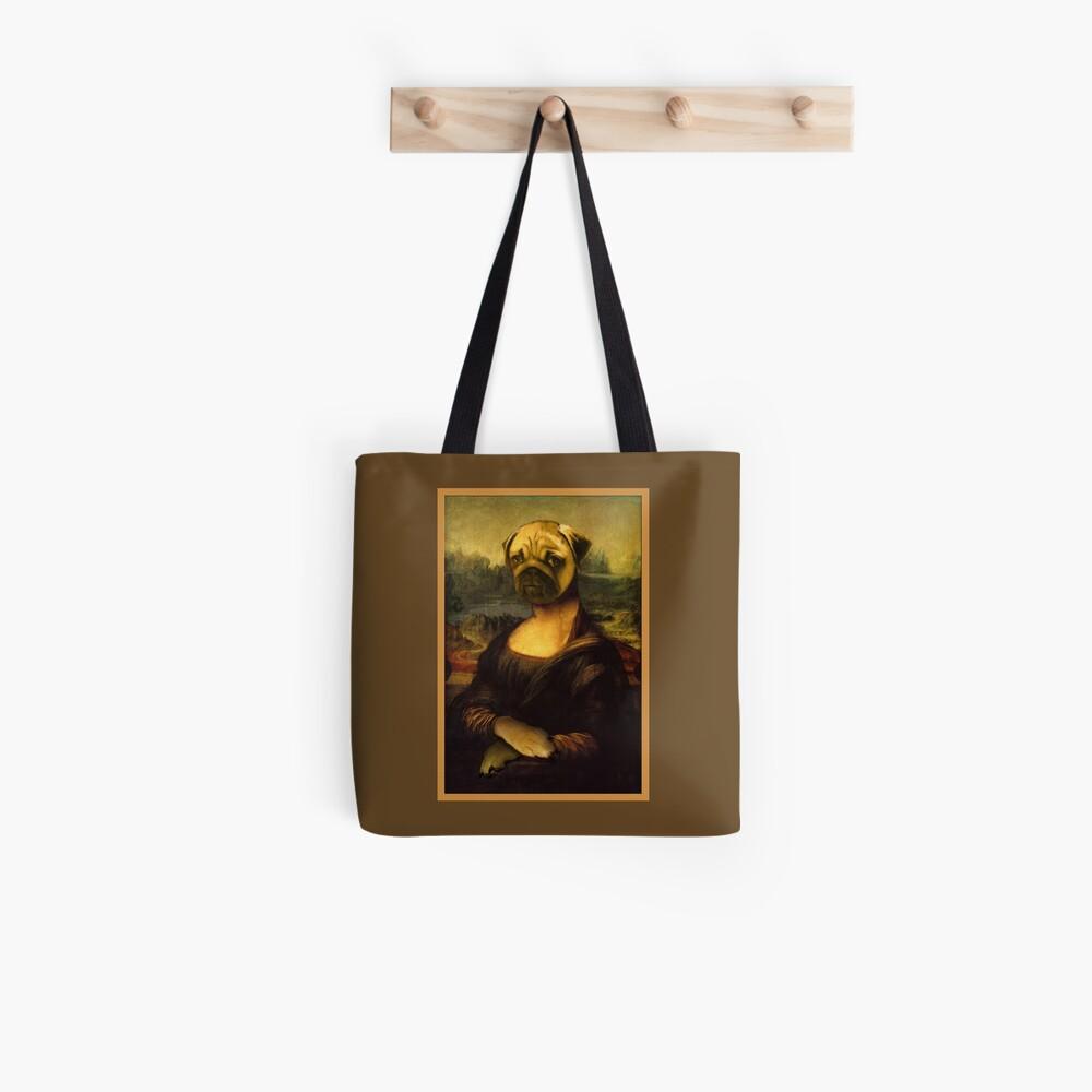 Mona Lisa Pug Tote Bag