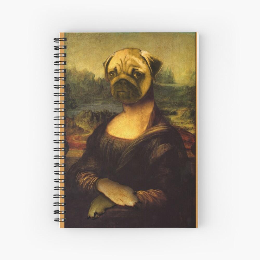 Mona Lisa Pug Spiral Notebook