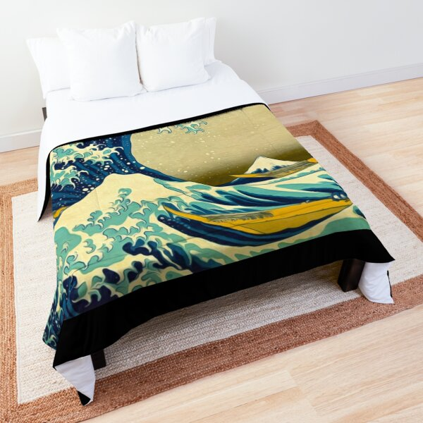 The Great Wave Comforter