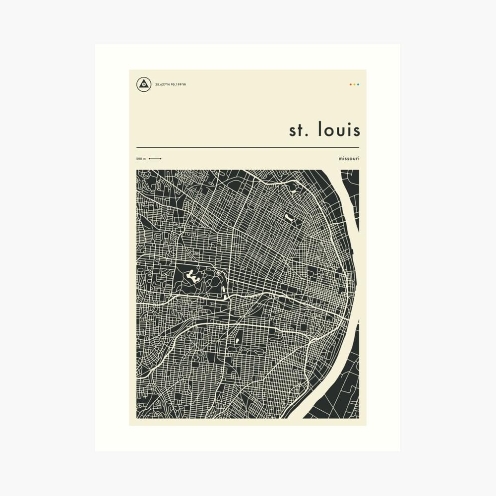 ST. LOUIS MAP Art Print