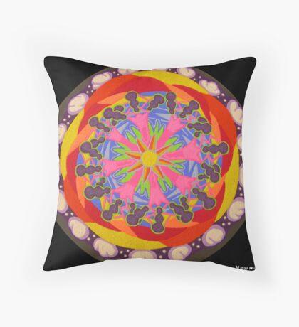 Sand Mandala II Throw Pillow