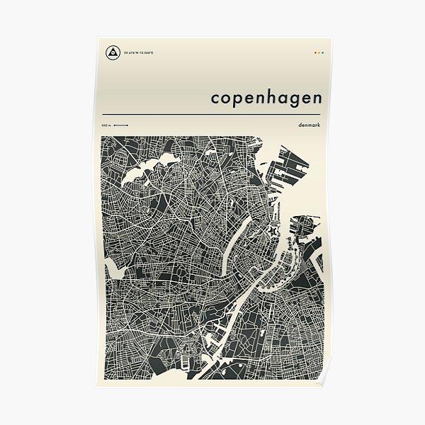 COPENHAGEN MAP Poster