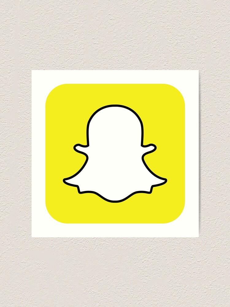 """""""Snapchat Logo"""" Art Print by Ashii-   Redbubble"""