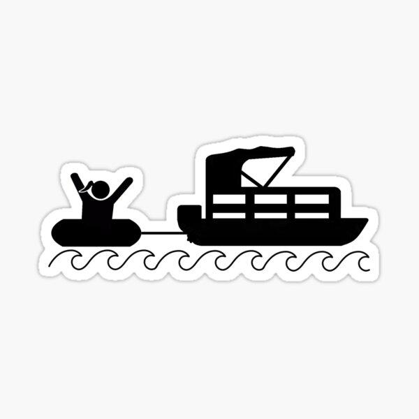 Tube Girl Pontoon Boat Desiign Sticker