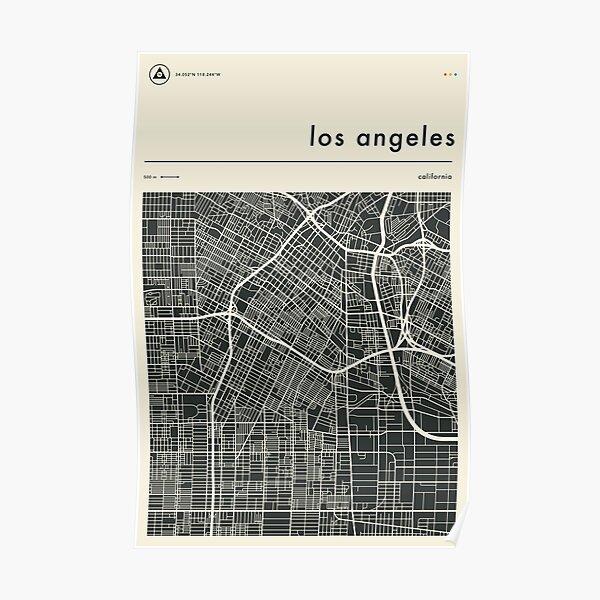 CARTE DE LOS ANGELES Poster