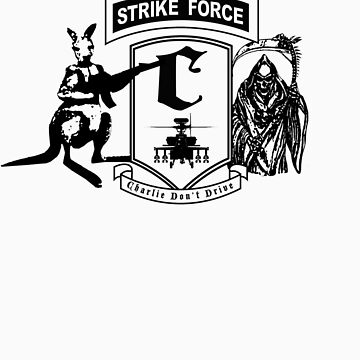 Strike Force Charlie (Black Print Large Logo) by infinitX