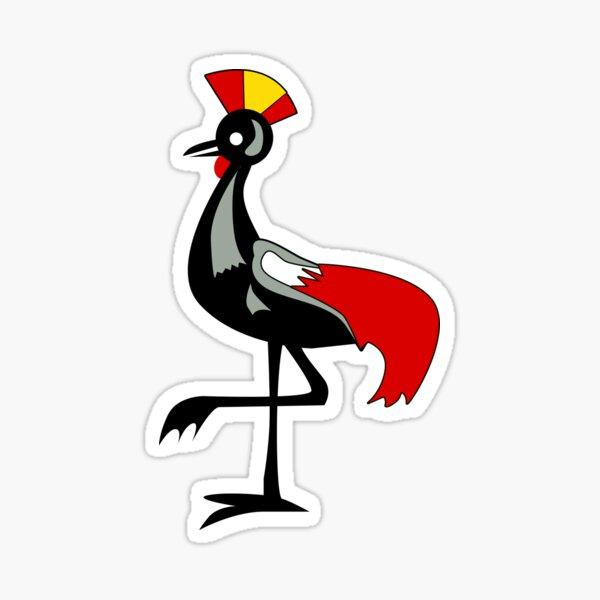 Crane of Uganda Sticker