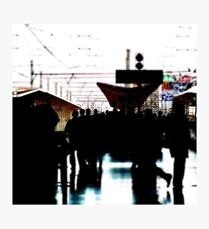 Valencia City, Spain.  Hurry...hurry.. Photographic Print