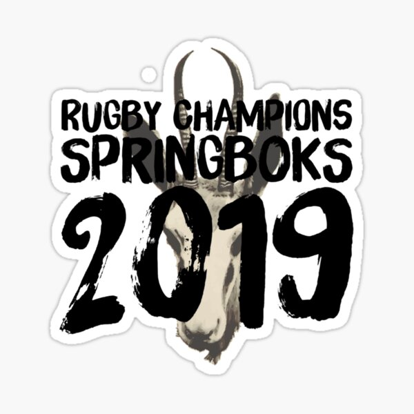 South Africa Springboks World Cup Rugby Champions 2019 Sticker