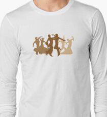 Flamenco Dancers Illustration  Long Sleeve T-Shirt
