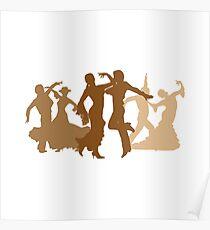 Flamenco Dancers Illustration  Poster