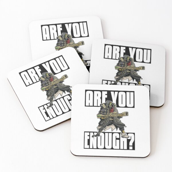 FL4K The Beastmaster Are You Enough? Borderlands 3 Rakk Attack! Coasters (Set of 4)