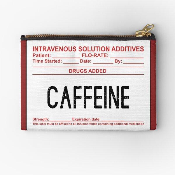 Caffeine In My Veins Zipper Pouch