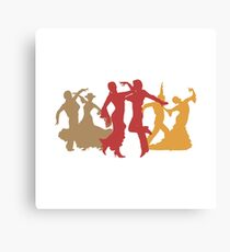 Colorful Flamenco Dancers Canvas Print