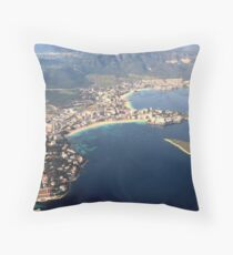 Magaluf and Palma Nova from the air Throw Pillow