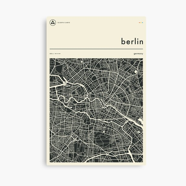 Berlin Map Canvas Print