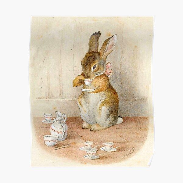 Rabbit Tea Party - Beatrix Potter Poster
