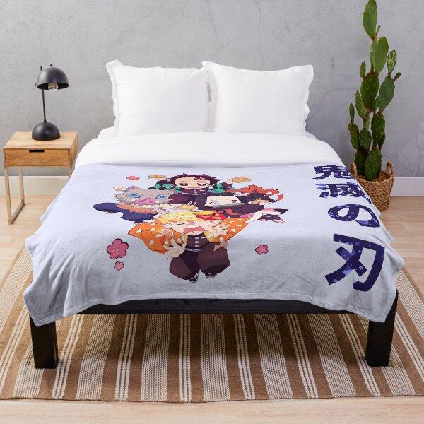 Demon Slayer Chibis Throw Blanket