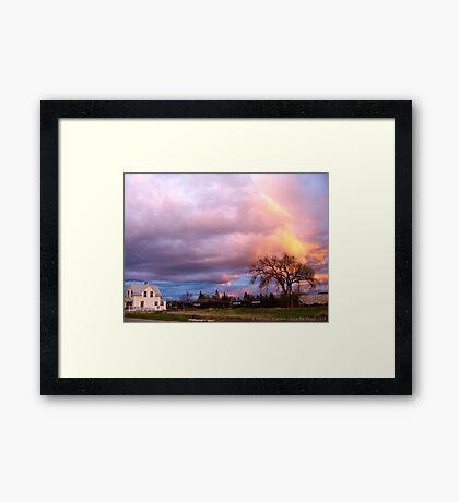 Kalispell Sunset - South Framed Print