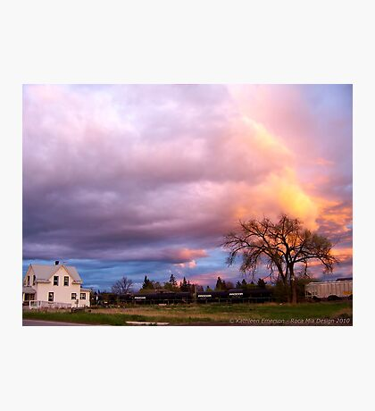 Kalispell Sunset - South Photographic Print