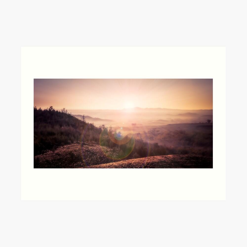 Outback Sunrise (full widescreen panorama) Art Print