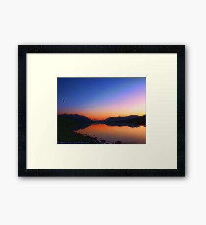 Lake MacDonald Sunset Framed Print