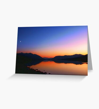 Lake MacDonald Sunset Greeting Card