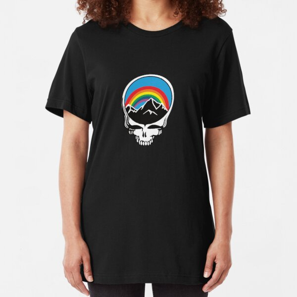 Steal Your Rainbow and Mountains Slim Fit T-Shirt
