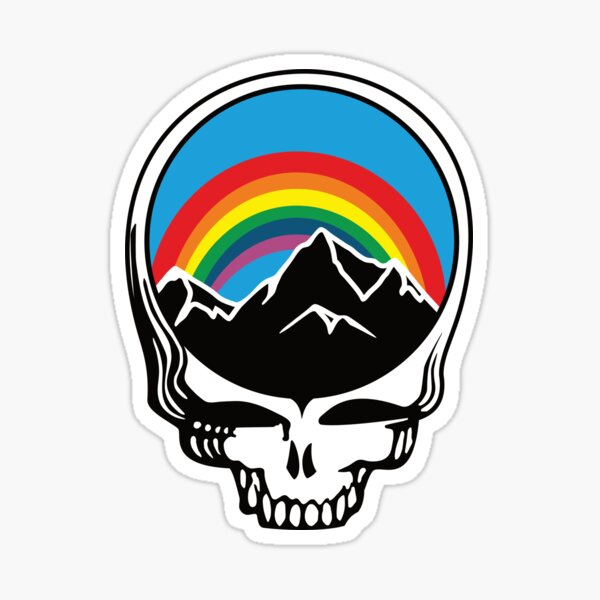 Steal Your Rainbow and Mountains Sticker