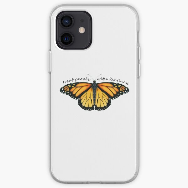 Treat People With Kindness Monarch iPhone Soft Case