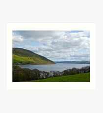 Overlooking Loch Ness Art Print