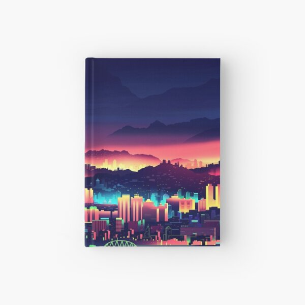 Synthwave City Hardcover Journal