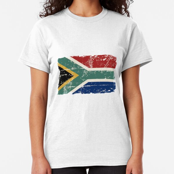 South Africa Flag - Vintage Look Classic T-Shirt