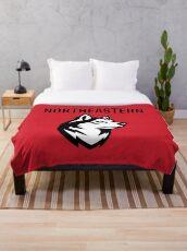 The Northeastern Huskies Throw Blanket