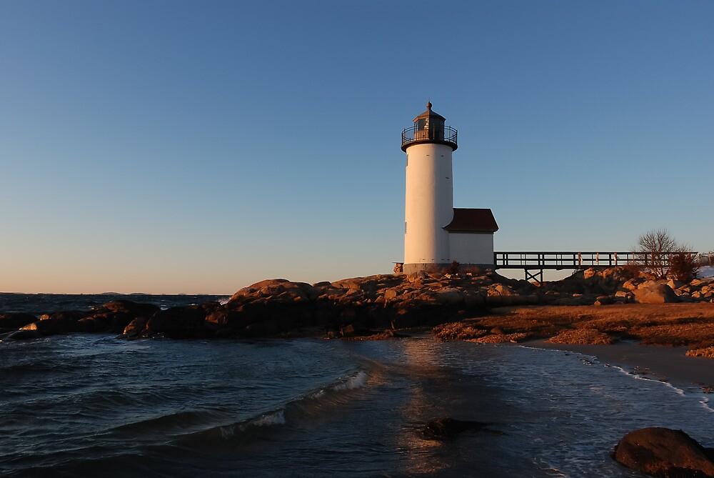 Annisquam Light at Sunset - Gloucester, Massachusetts by Steve Borichevsky