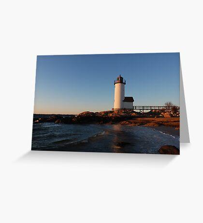 Annisquam Light at Sunset - Gloucester, Massachusetts Greeting Card
