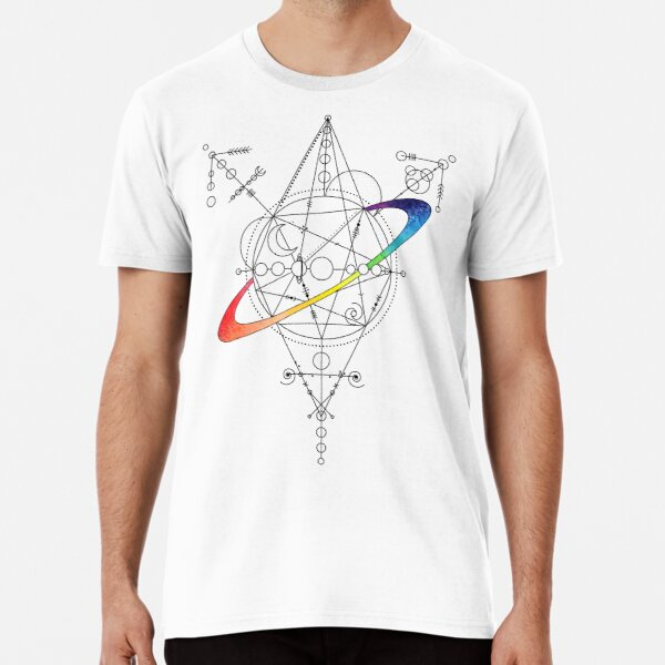 Rainbow planet trans symbol - black Premium T-Shirt