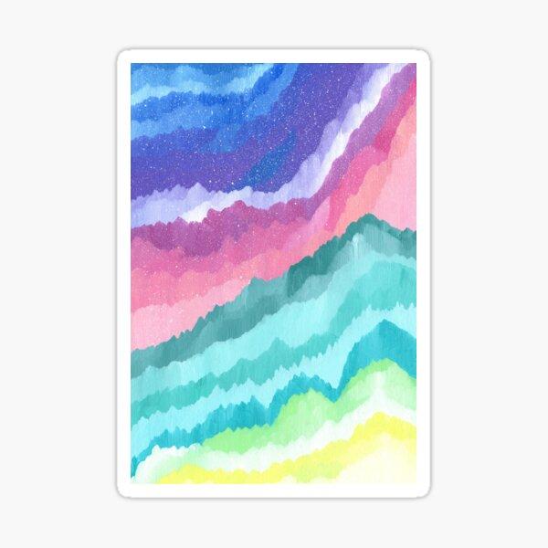 Acrylic waves Sticker