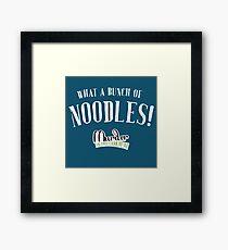 Bunch of Noodles - MITLOO Framed Print
