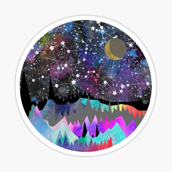 Orion Mountain Landscape Sticker