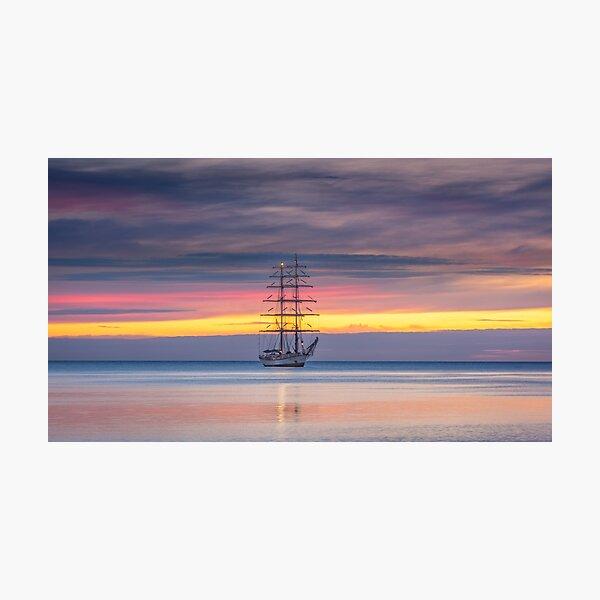 Schooner Sunrise Photographic Print