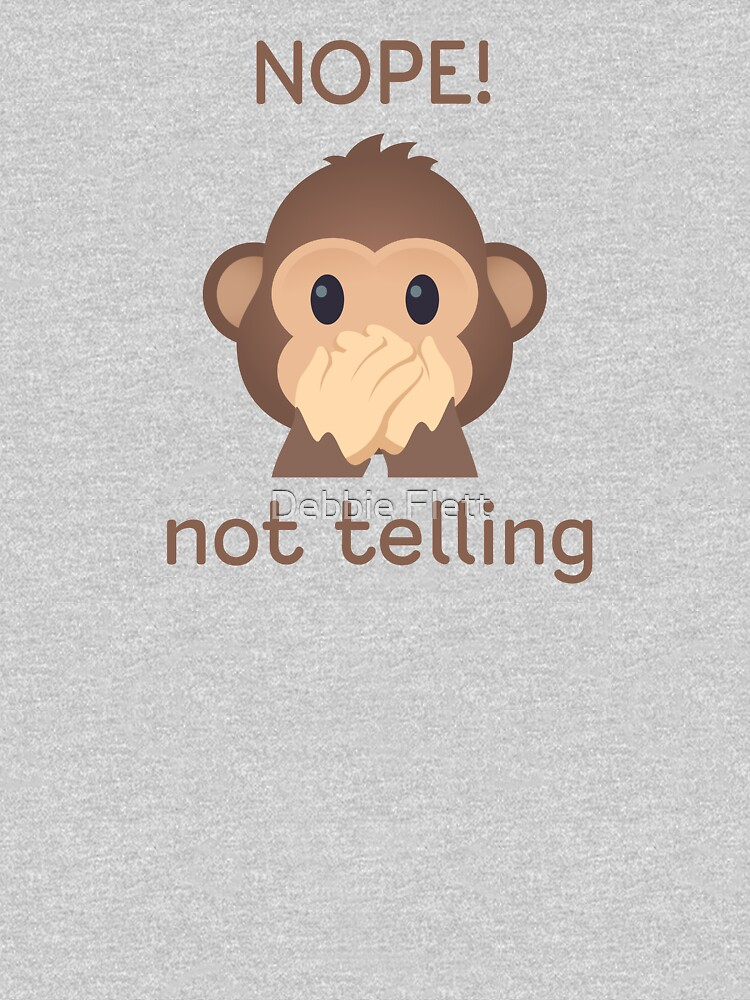 Nope, not telling - speak no evil monkey by lucythecow