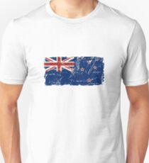 New Zealand Flag - Vintage Look Unisex T-Shirt