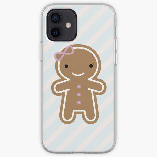Cookie Cute Gingerbread Girl iPhone Soft Case