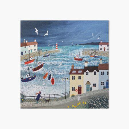 Stormy Harbour Art Board Print