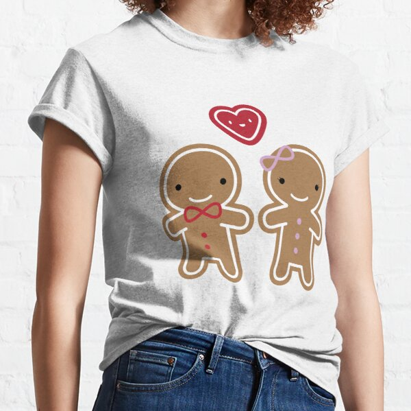 Cookie Cute Gingerbread Couple Classic T-Shirt