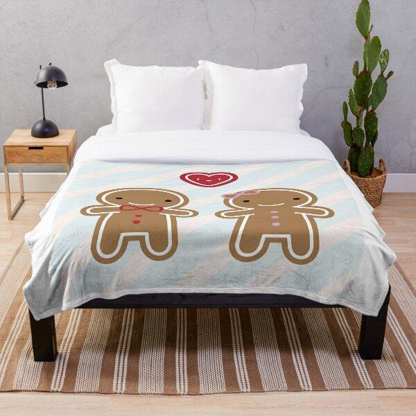 Cookie Cute Gingerbread Couple Throw Blanket